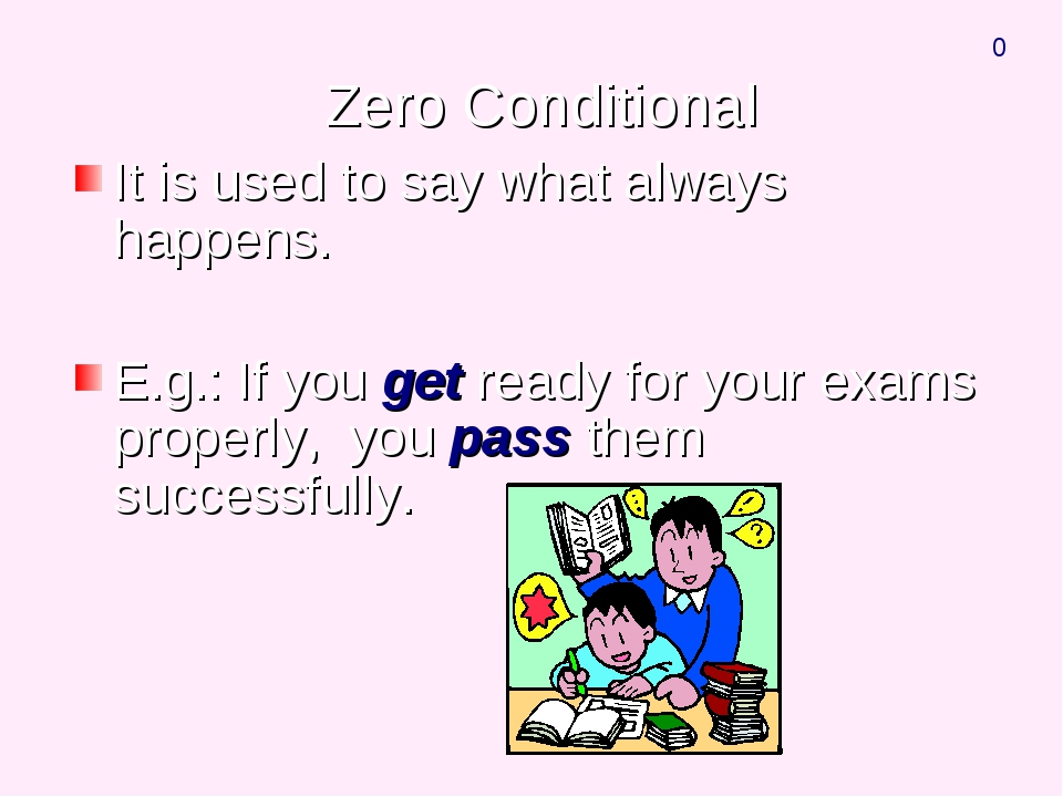 Zero Conditional It is used to say what always happens. E.g.: If you get rea...
