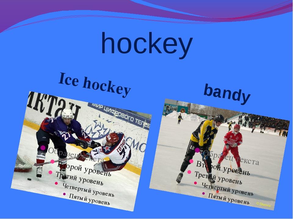 hockey Ice hockey bandy