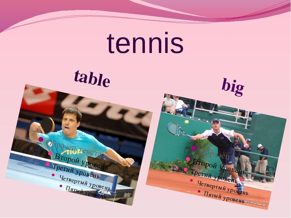 tennis table big