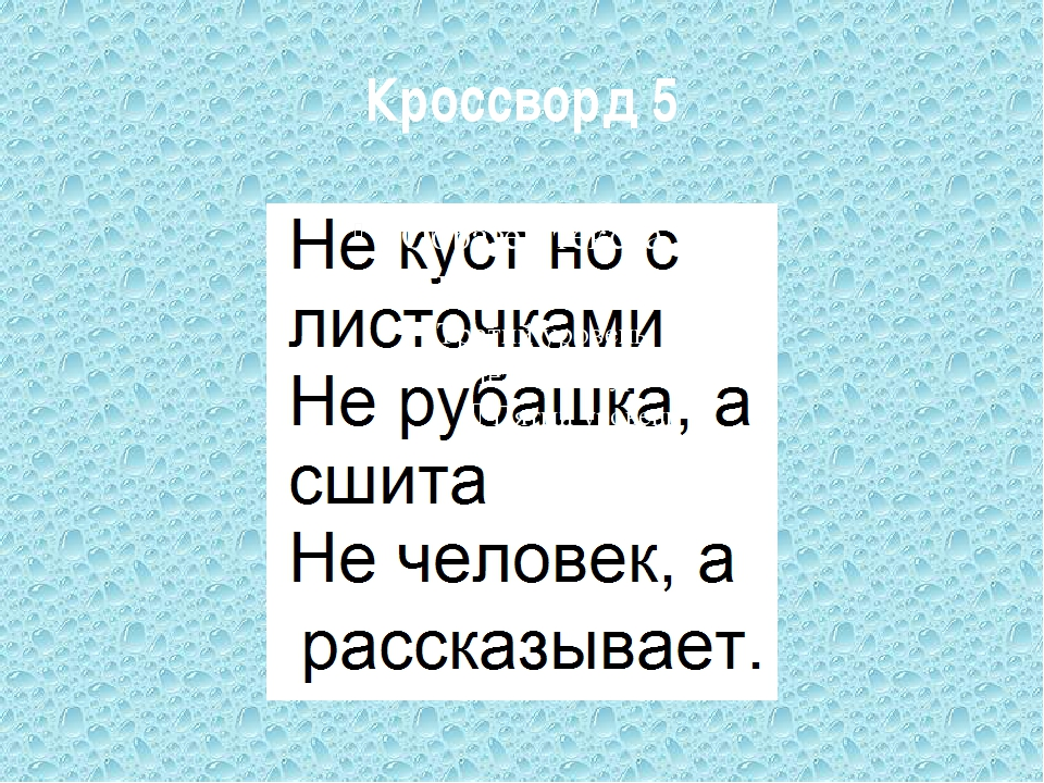 Кроссворд 5