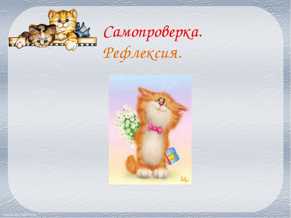 Самопроверка. Рефлексия. FokinaLida.75@mail.ru