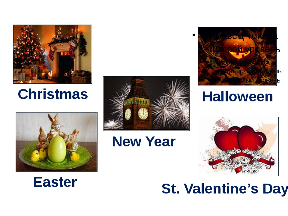 Christmas New Year Easter Halloween St. Valentine's Day