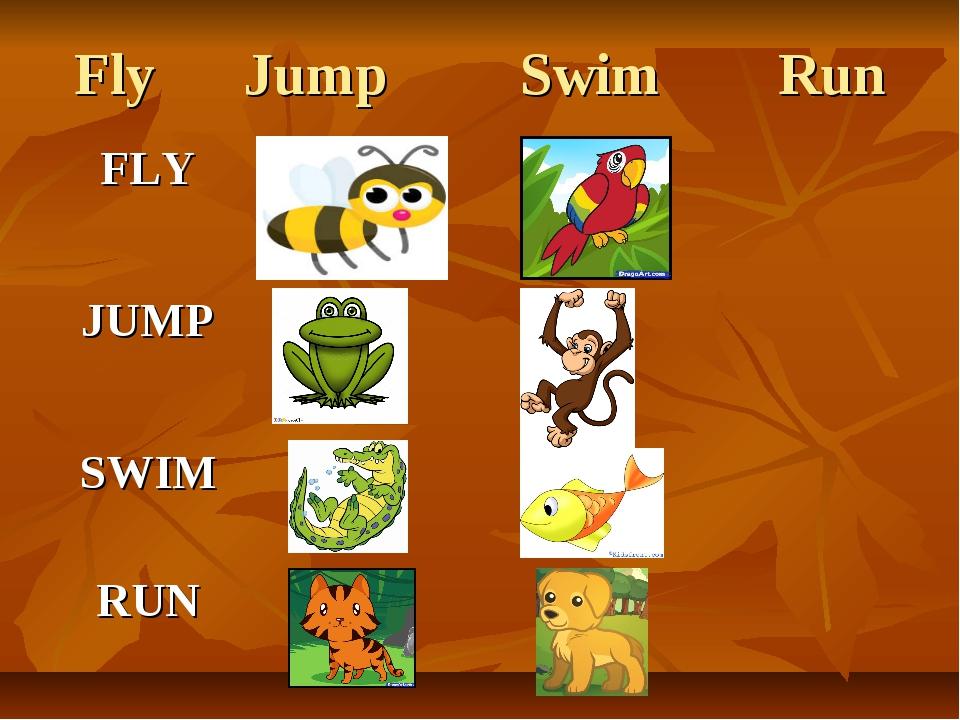 Fly Jump Swim Run
