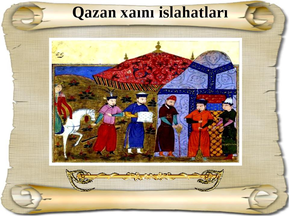 Qazan xaını islahatları