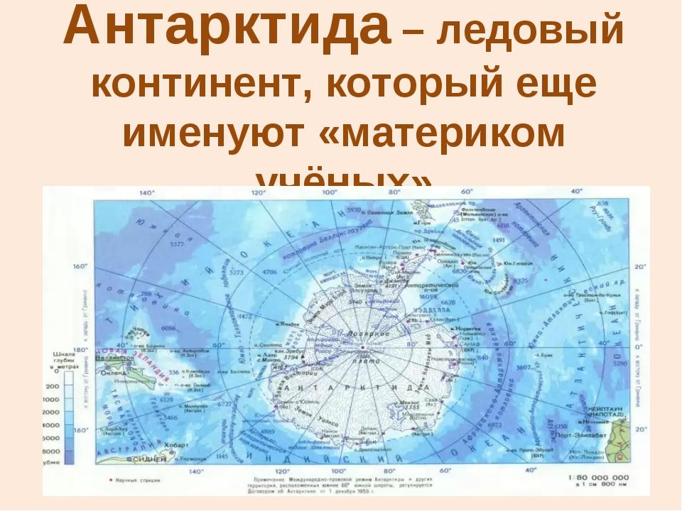 Антарктида – ледовый континент, который еще именуют «материком учёных»