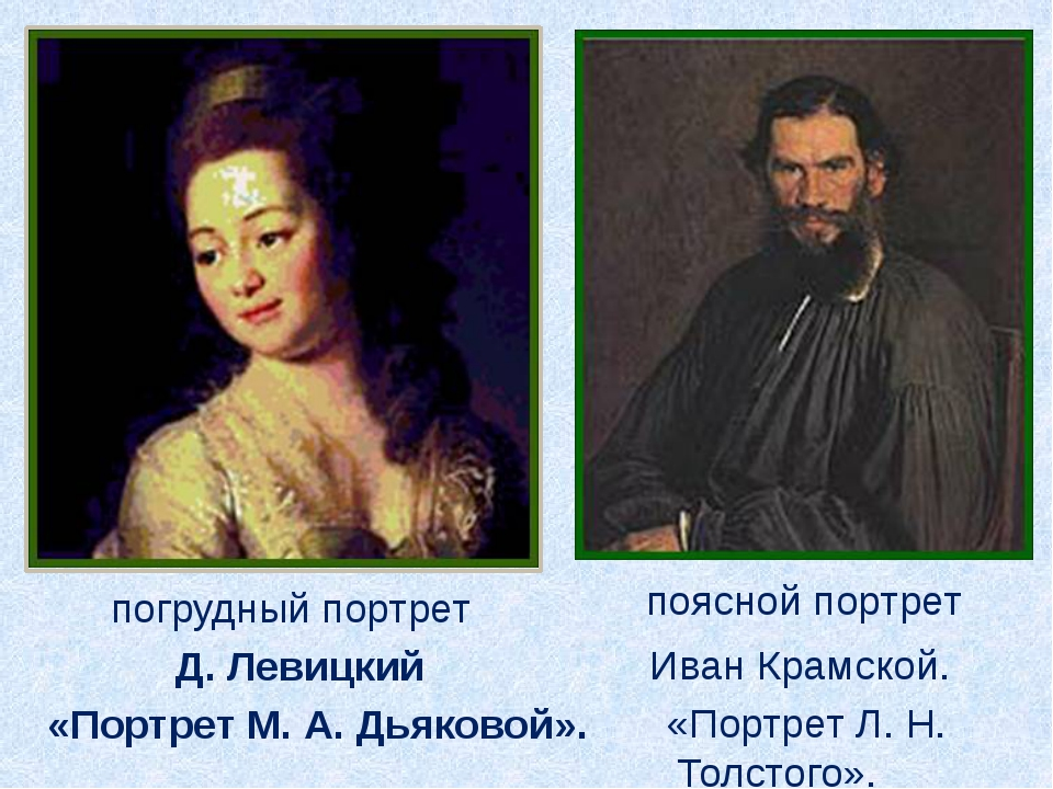 Д. Левицкий «Портрет М. А. Дьяковой». погрудный портрет Иван Крамской. «Порт...