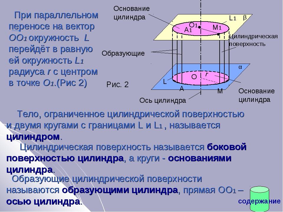 При параллельном переносе на вектор ОО1 окружность L перейдёт в равную ей ок...