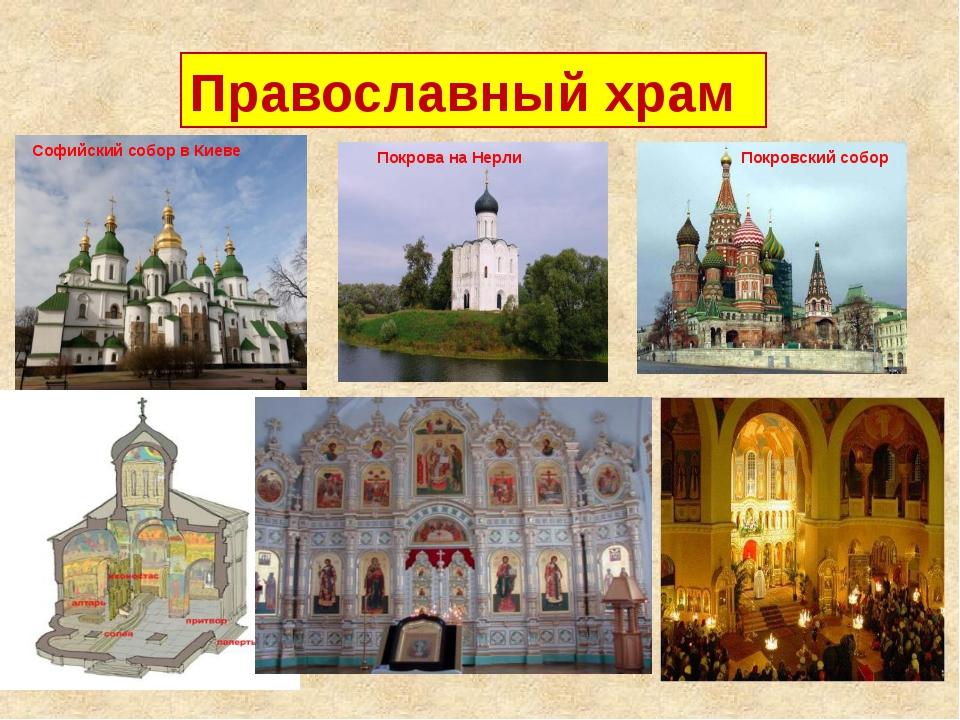 Православный храм Софийский собор в Киеве Покрова на Нерли Покровский собор