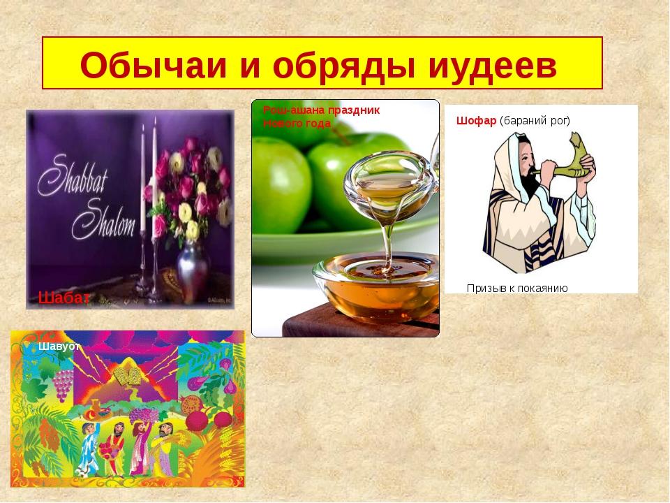 Обычаи и обряды иудеев Шабат Рош-ашана праздник Нового года Шофар (бараний р...