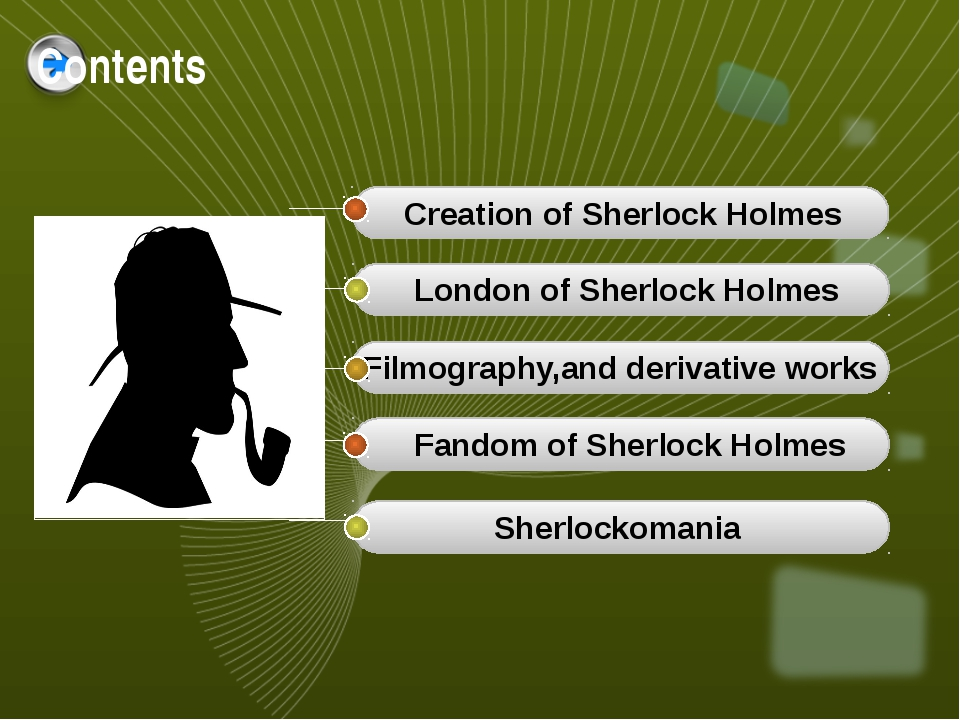 Contents Creation of Sherlock Holmes London of Sherlock Holmes Filmography,an...