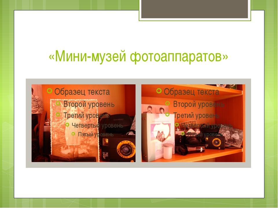 «Мини-музей фотоаппаратов»