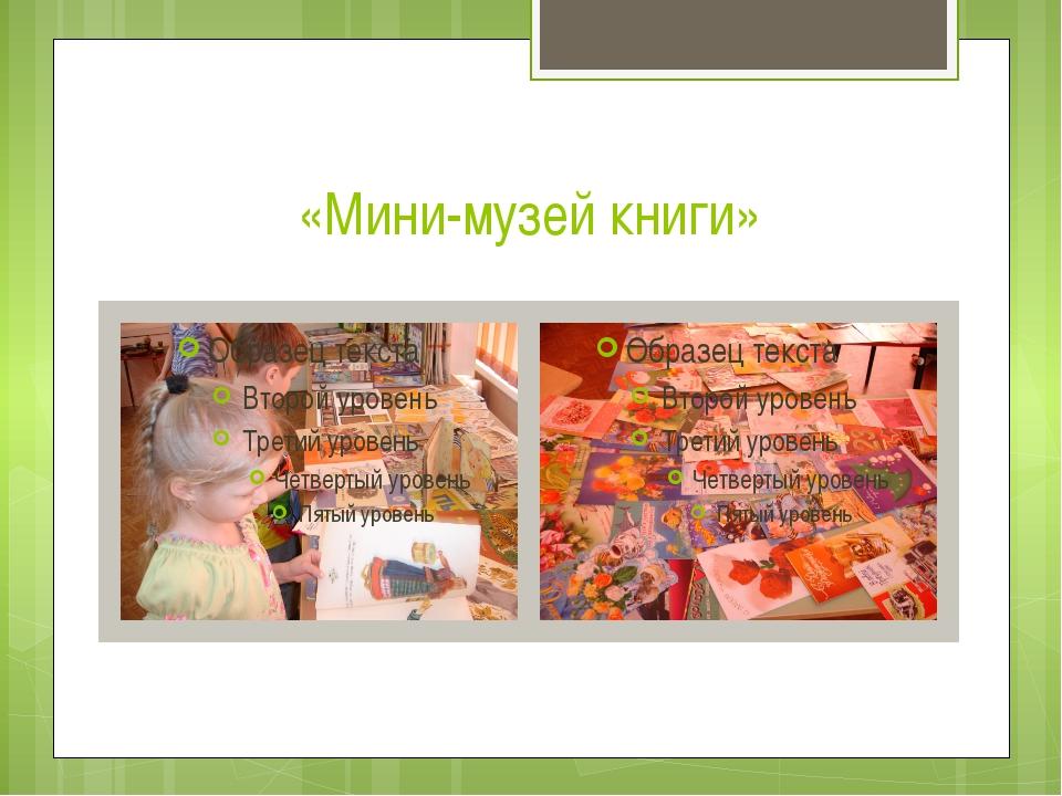 «Мини-музей книги»