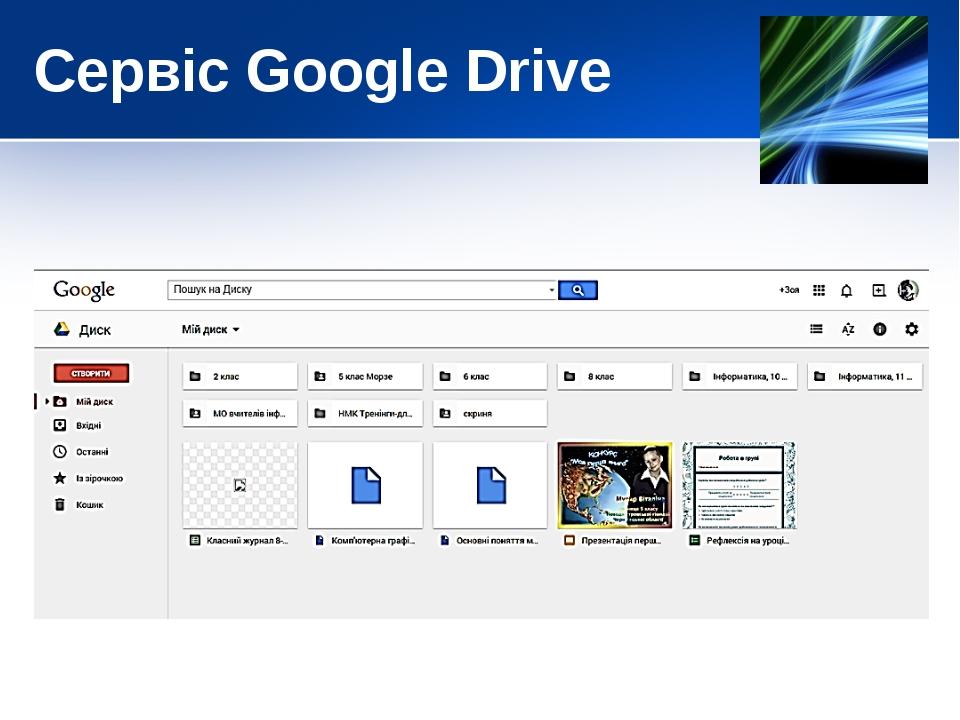 Сервіс Google Drive