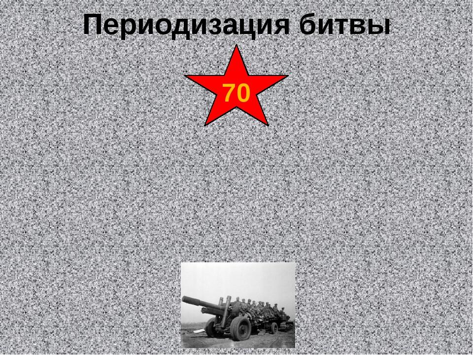 Периодизация битвы 70