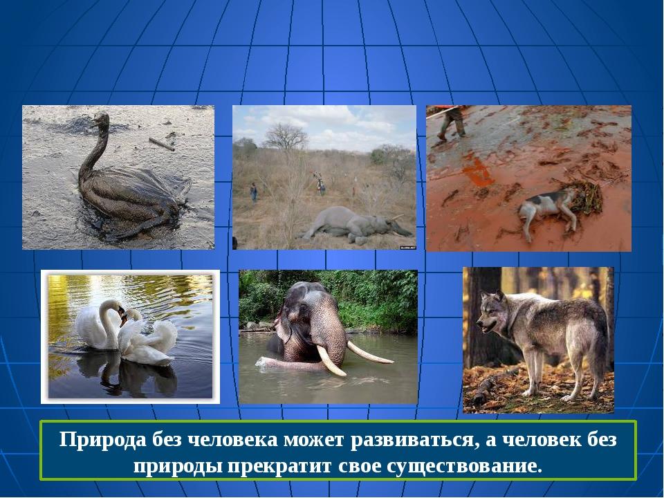 Природа без человека может развиваться, а человек без природы прекратит свое...