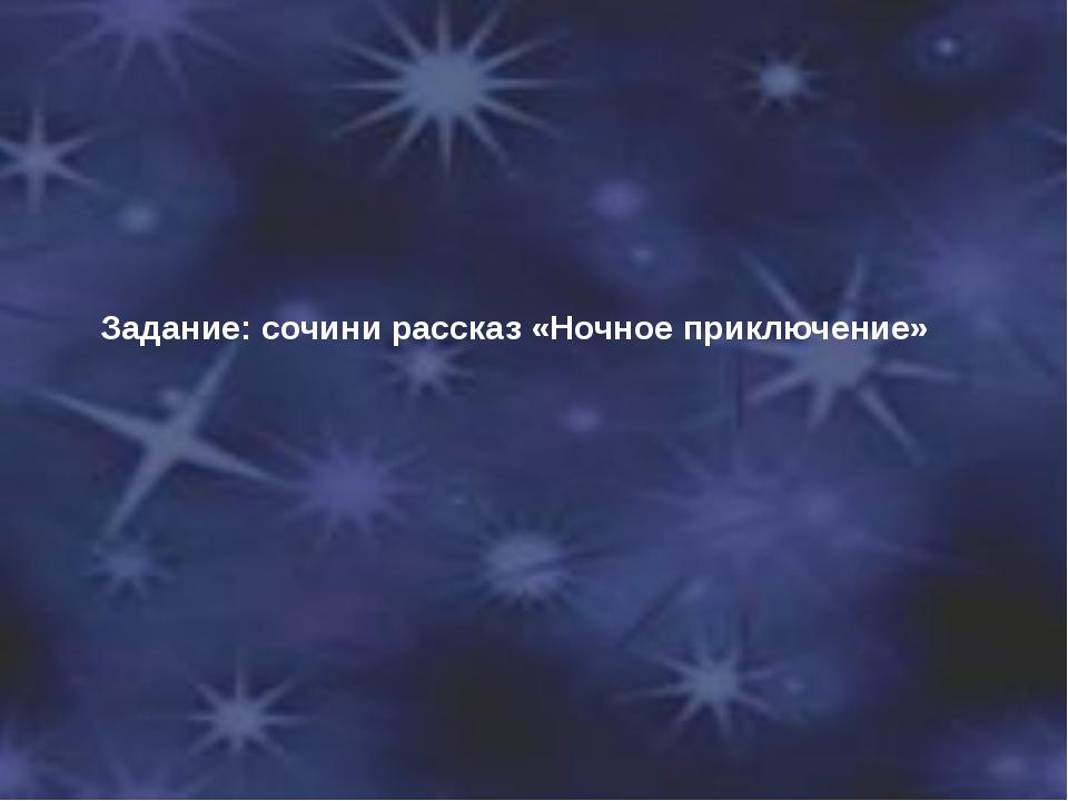 Задание: сочини рассказ «Ночное приключение»
