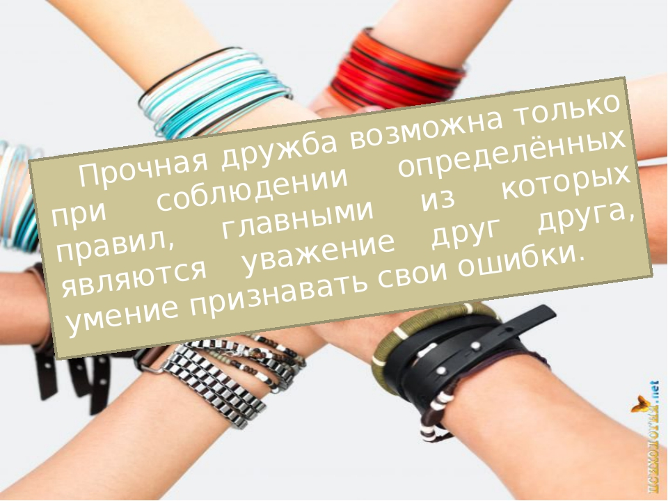 Прочная дружба возможна только при соблюдении определённых правил, главными и...