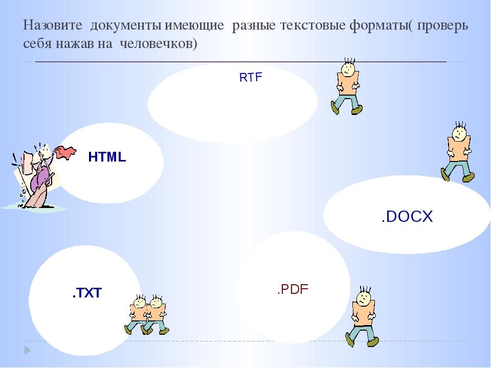 Документы отобажаются в разных ОС Текст может быть прочитан многими прложения...