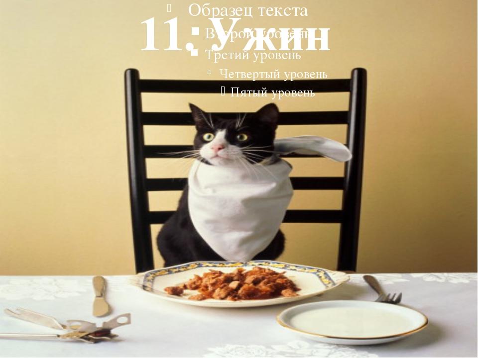 11. Ужин