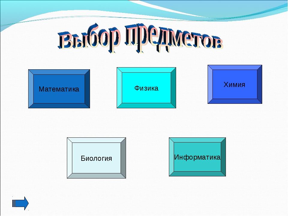 Математика Физика Химия Биология Информатика