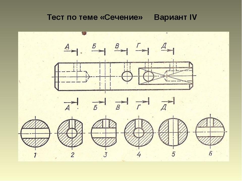 Тест по теме «Сечение» Вариант IV