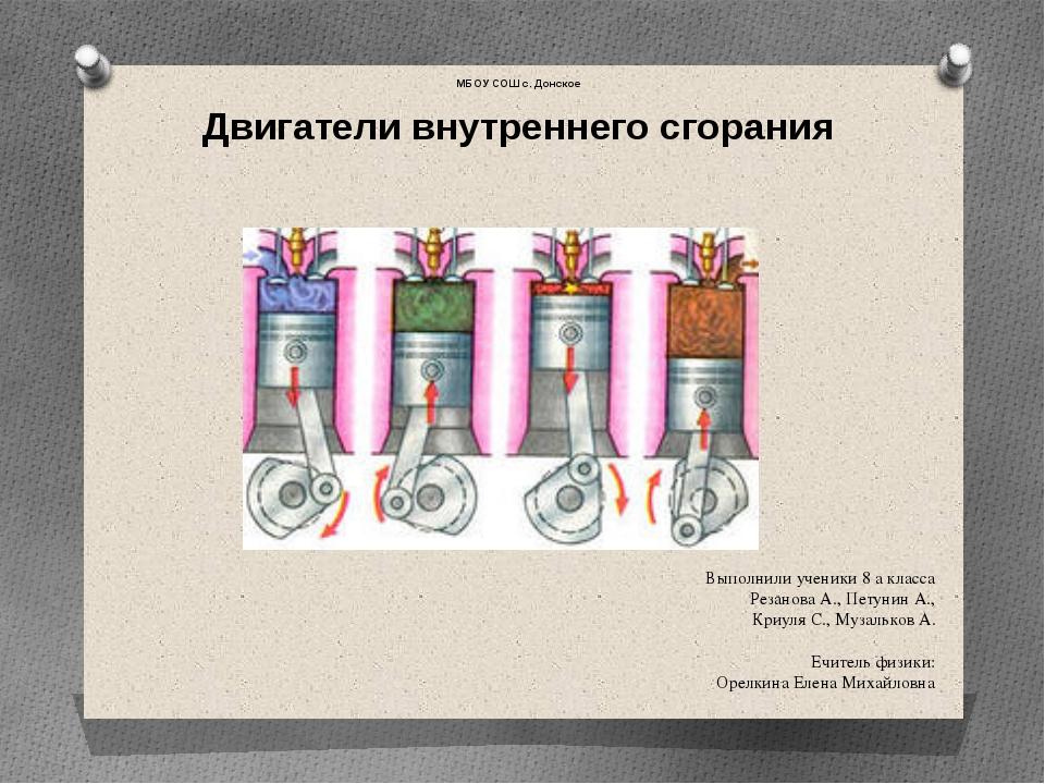 Выполнили ученики 8 а класса Резанова А., Петунин А., Криуля С., Музальков А....