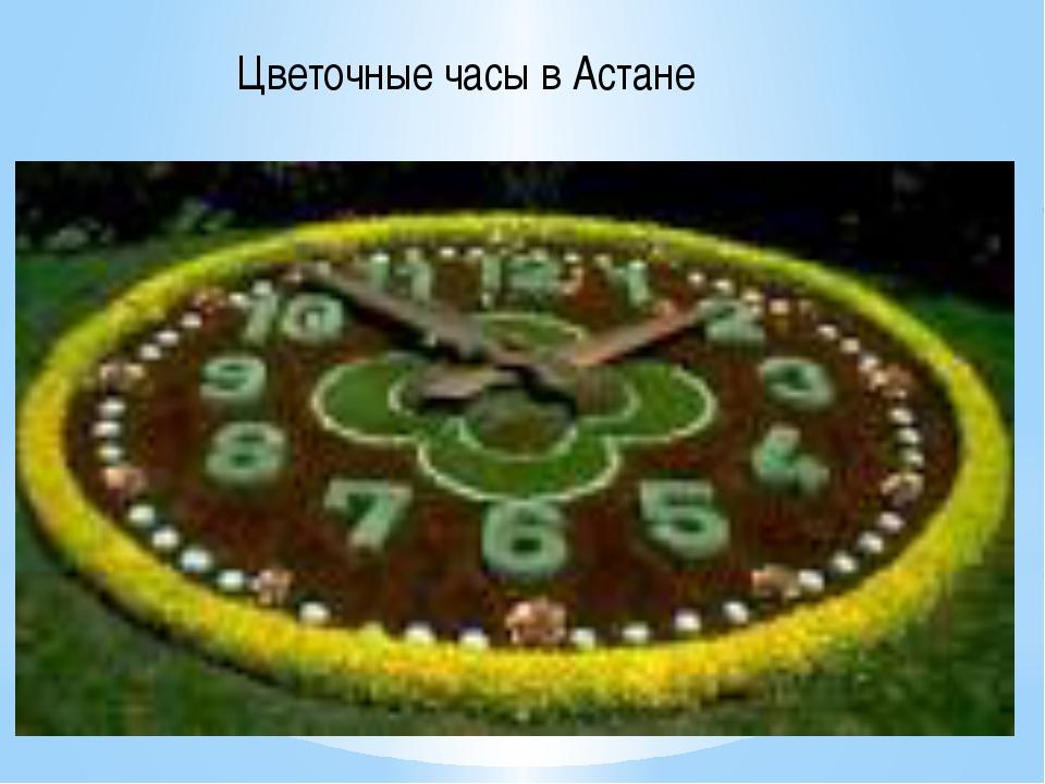 Цветочные часы в Астане