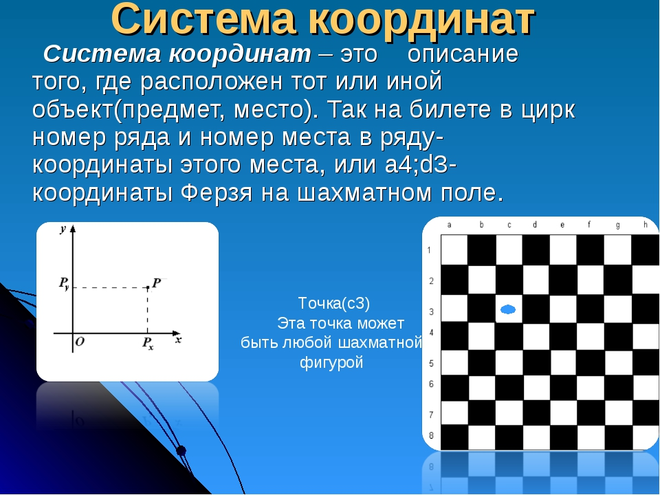 Система координат Система координат – это описание того, где расположен тот и...