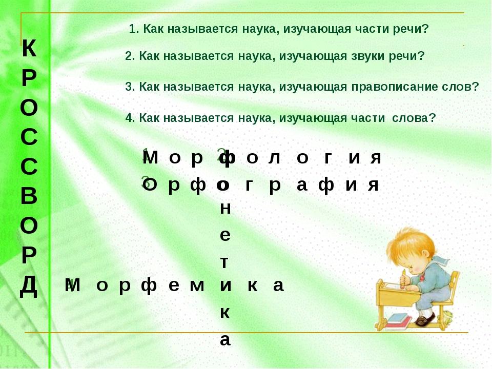 2. Как называется наука, изучающая звуки речи? 3. Как называется наука, изуча...