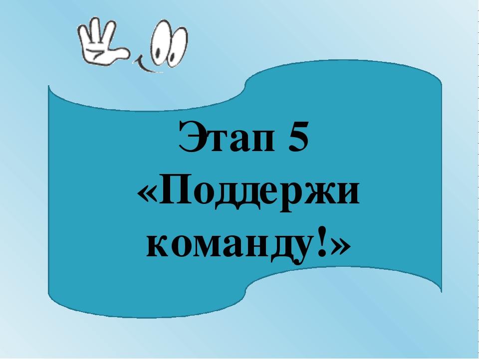 Этап 5 «Поддержи команду!»