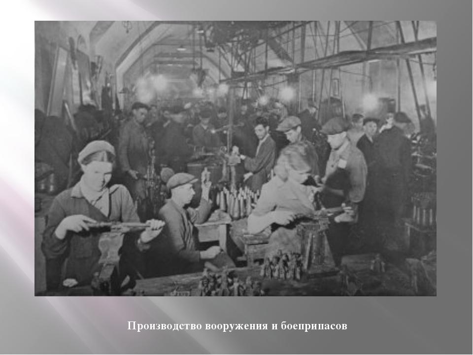 Производство вооружения и боеприпасов
