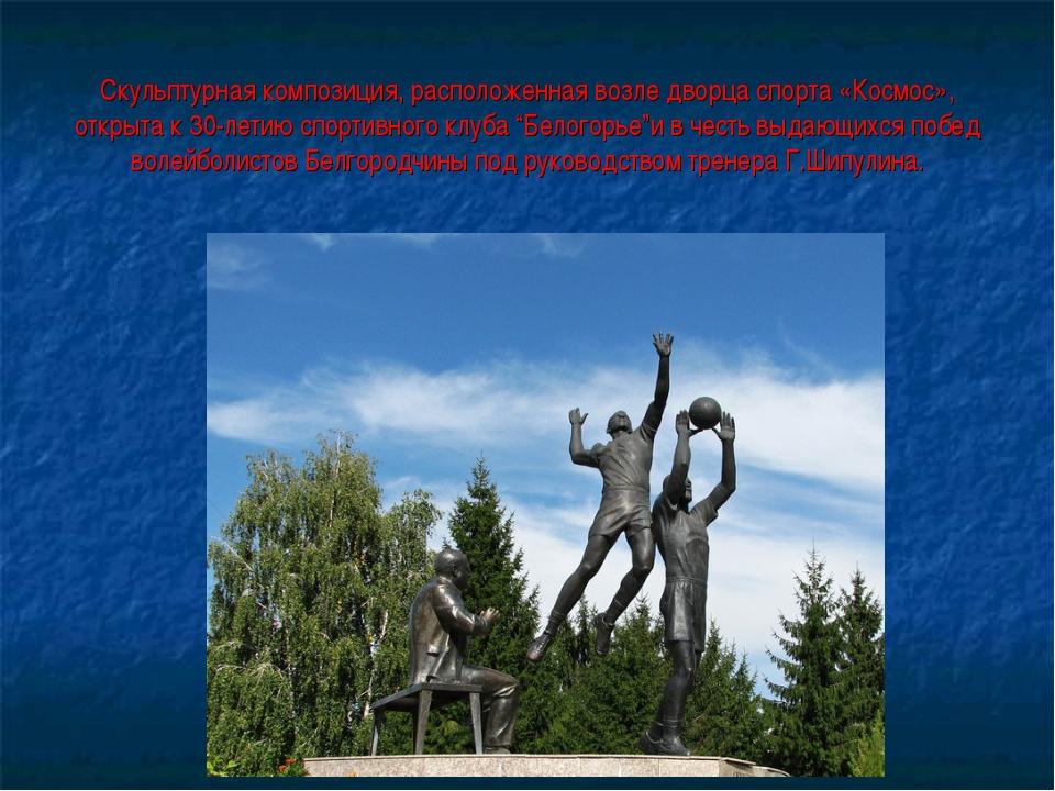 Скульптурная композиция, расположенная возле дворца спорта «Космос», открыта...