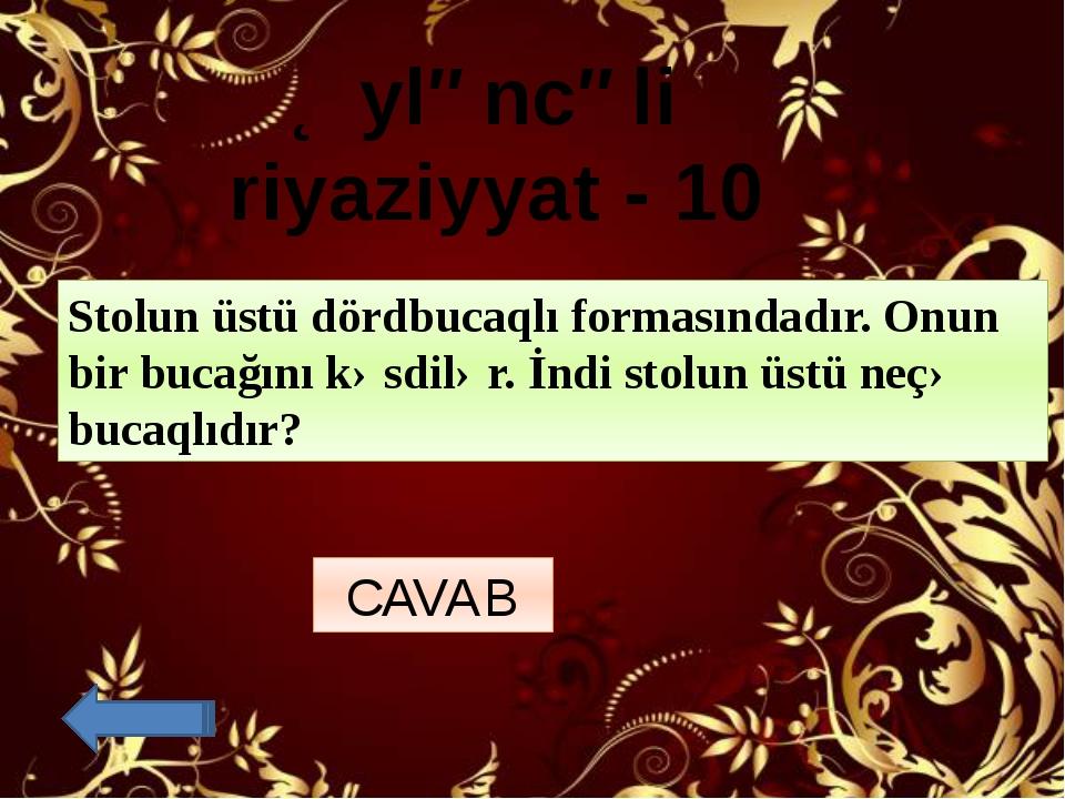 Məntiq - 20 Ardıcıllığı tamamlayın: 21,20,18,15,11,6,? 0 CAVAB