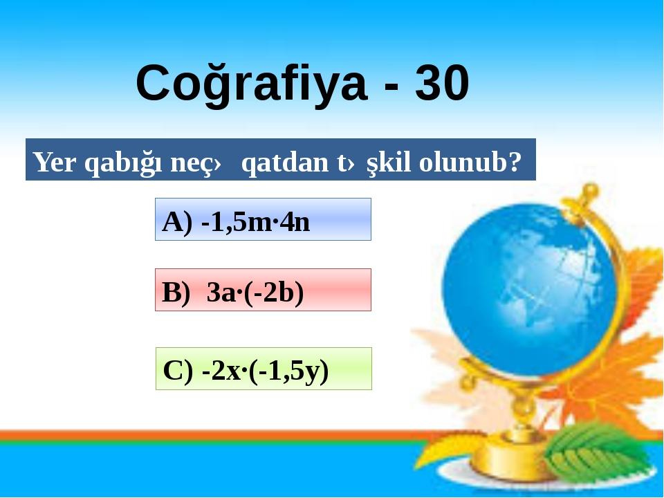 Azərbaycan dili - 40 Sayın mənaca neçə növü var?