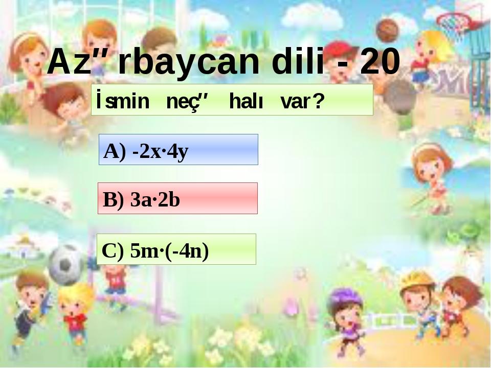 Ballar Fənnlər 10 20 30 40 50 Azərbaycan dili 10 20 30 40 50 Tarix 10 20 30 4...