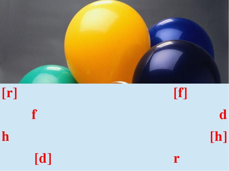 [r] [f] f d h [h] [d] r