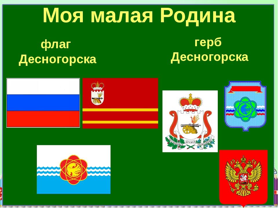 флаг Десногорска герб Десногорска Моя малая Родина
