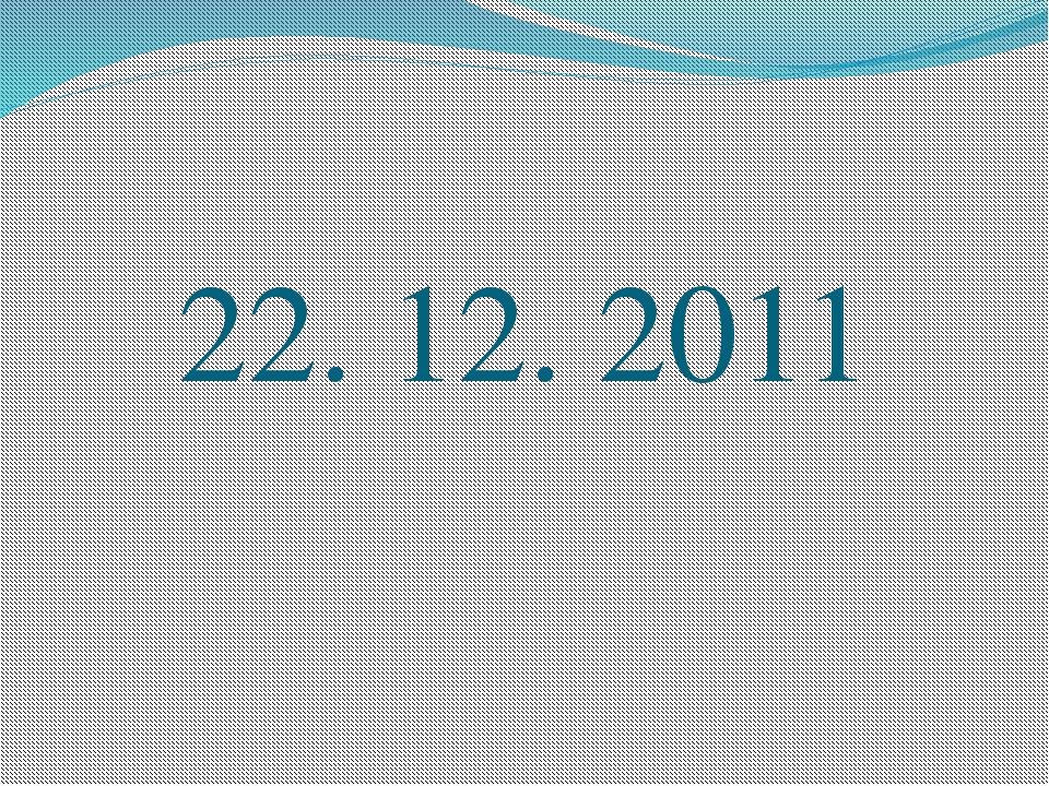 22. 12. 2011