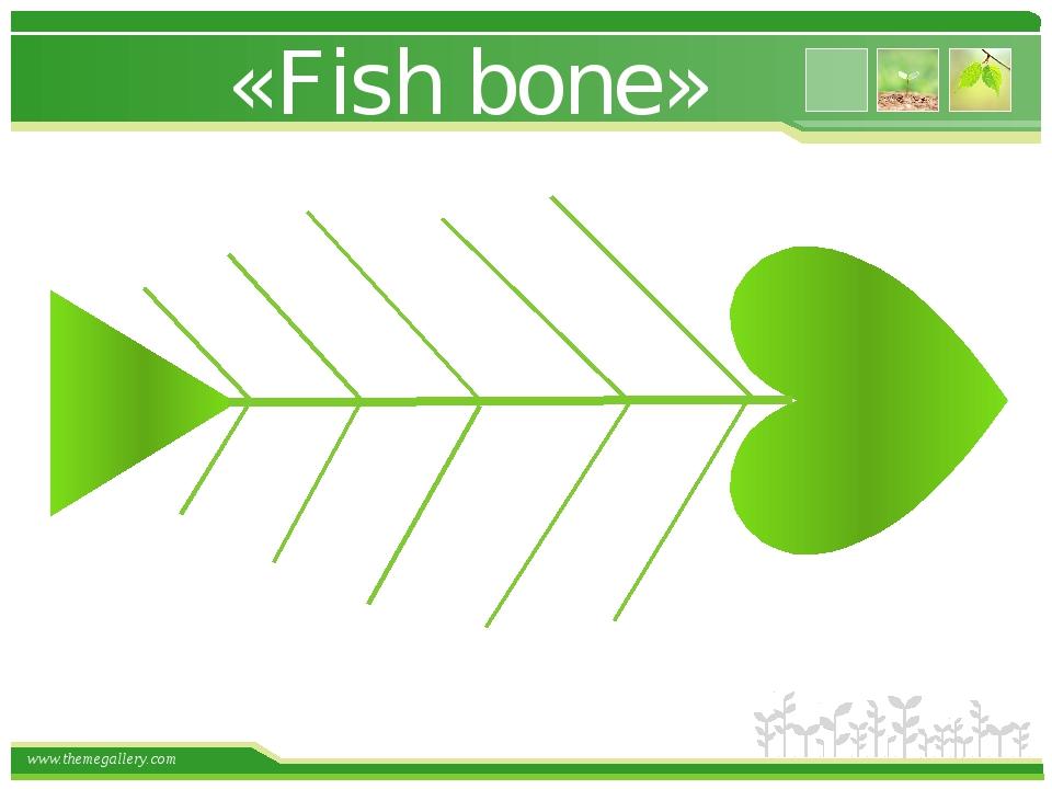 «Fish bone» www.themegallery.com