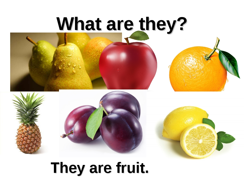 What are they? They are fruit.
