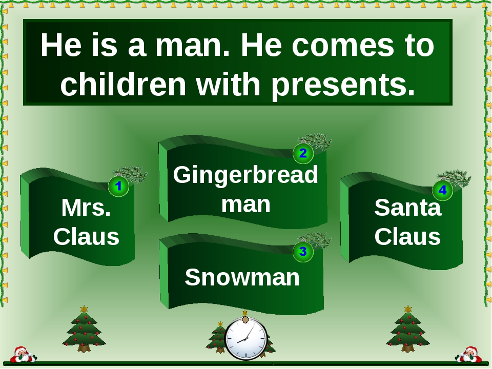 He is a man. He comes to children with presents. Mrs. Claus Snowman Santa Cla...