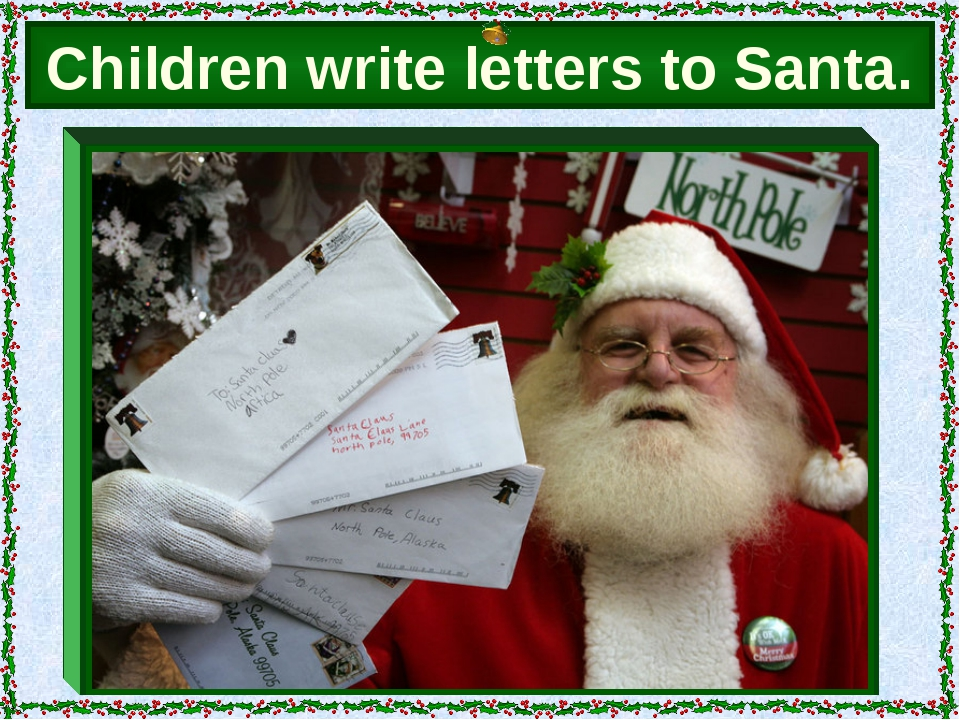 Children write letters to Santa.