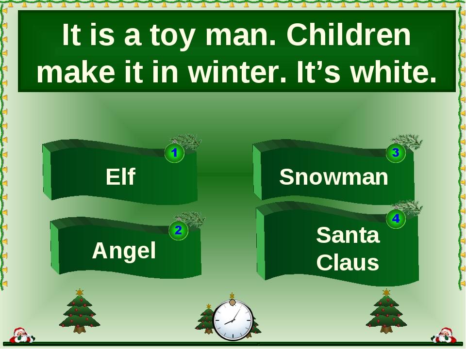 Snowman Elf Santa Claus It is a toy man. Children make it in winter. It's whi...