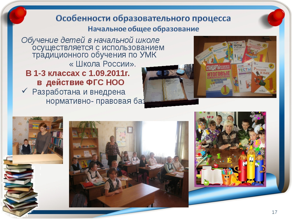 Обучение детей в начальной школе осуществляется с использованием традиционног...