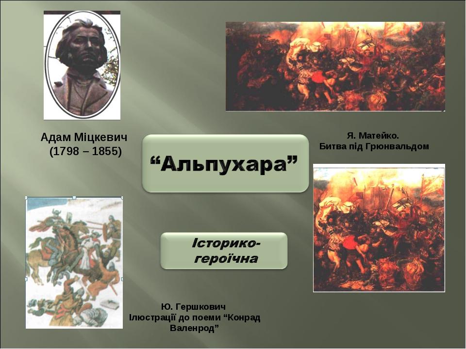 """Адам Міцкевич (1798 – 1855) Ю. Гершкович Ілюстрації до поеми """"Конрад Валенрод..."""