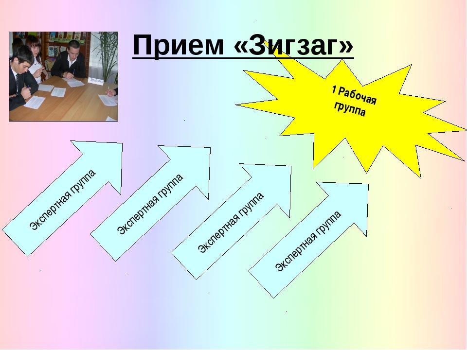 1 Рабочая группа Прием «Зигзаг» Экспертная группа Экспертная группа Экспертна...