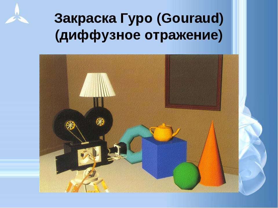 Закраска Гуро (Gouraud) (диффузное отражение)