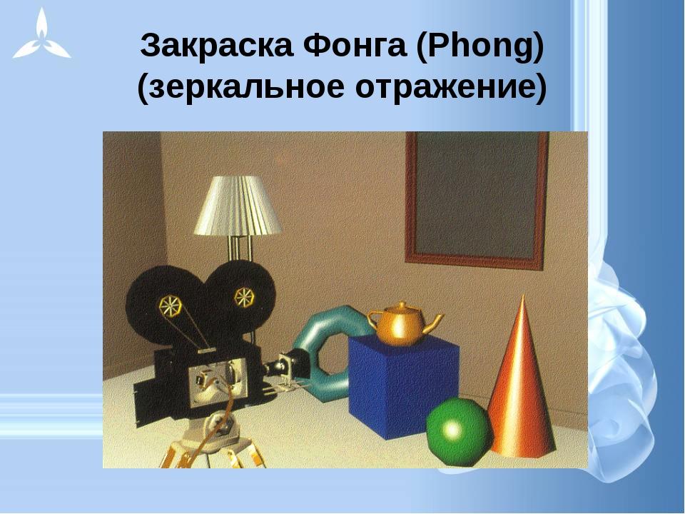 Закраска Фонга (Phong) (зеркальное отражение)