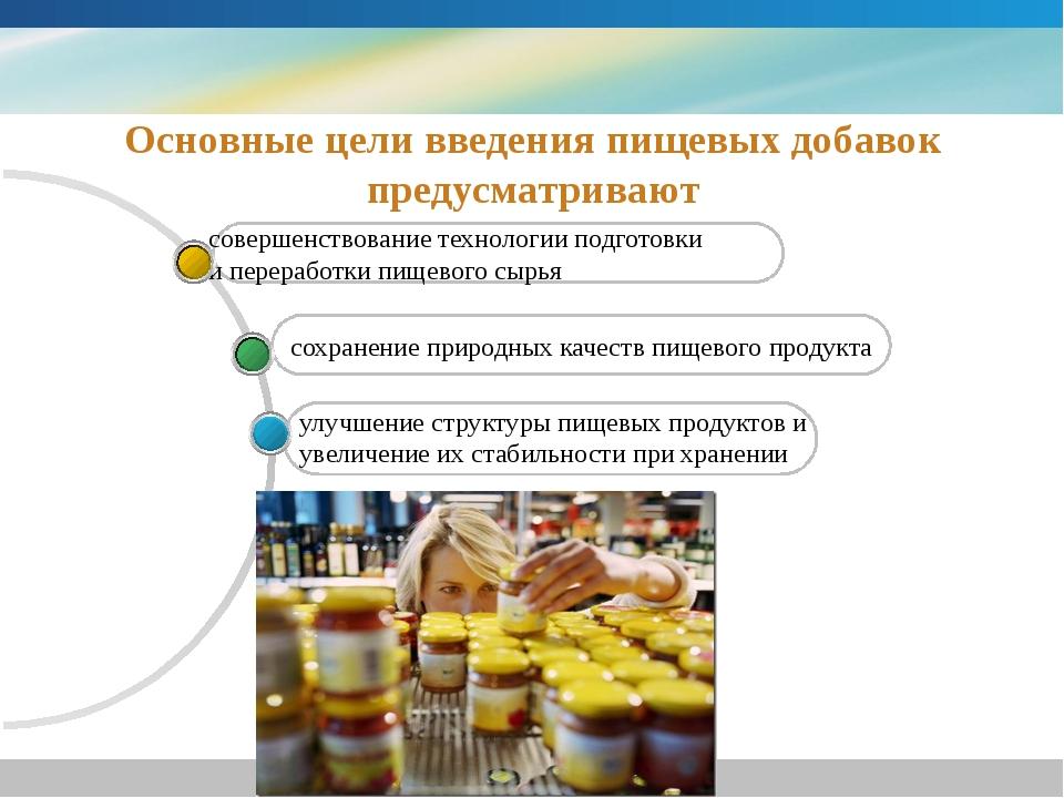 www.themegallery.com Основные цели введения пищевых добавок предусматривают с...