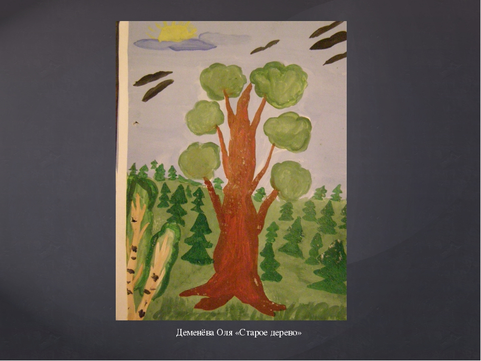 Деменёва Оля «Старое дерево»